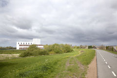 Small nuclear plant near Dodewaard in The Netherlands Stock Image