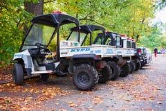 Small nypd police trucks john deere Royalty Free Stock Photos