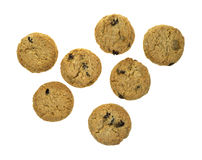 Small oatmeal raisin cookies Stock Images