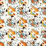 Small objects colored geometric abstract seamless pattern Stock Image