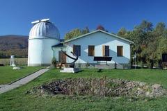 Small observatory. Famous Vihorlat astronomical observatory (slovak name: Vihorlatska hvezdaren a observatorium) near village Kolonica, Slovakia royalty free stock photography