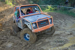 Small off road in the mud terrain Royalty Free Stock Images