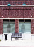 Small Office Building. Traditional American Small Office Building Royalty Free Stock Photography