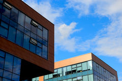 Small office buildings. Close up view of modern small office buildings Stock Photography