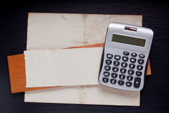 Small office calculator Royalty Free Stock Image