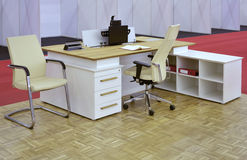 Small Office Desk Stock Image