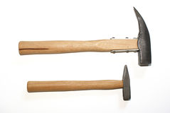 Small og big - hammers Stock Photography