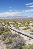 Small Oil Pipeline. In a well field in New Mexico royalty free stock image