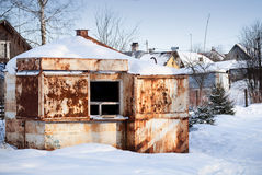 Small old abandoned rusted market Royalty Free Stock Photography