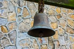 Old Rusty Bronze Metal Bell stock images