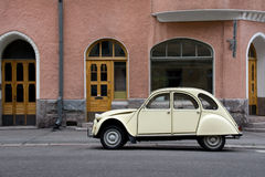 Small Old Car. In the City Stock Image
