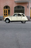 Small Old Car. In the City Royalty Free Stock Photo