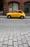 Small Old Car. In the City Royalty Free Stock Photography