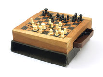 Small old chess set Stock Photo