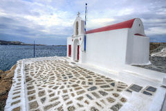 Small old church in Mykonos, Greek Islands Stock Photography