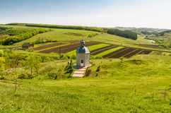 Small old church in a Ukrainian country Royalty Free Stock Photography