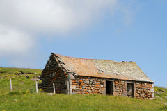 Small old farm on the Plateau de l'Aubrac Stock Photography