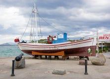Small old fishing bot at Aegina island Royalty Free Stock Photography
