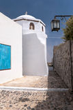 Small old greek church. In Pyrgos village of Santorini island Royalty Free Stock Photography