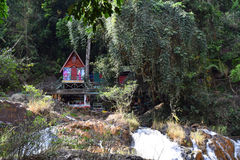 Small old house in the forest in datanla, dalat, vietnam Royalty Free Stock Images