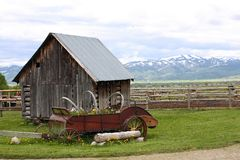Small old house on ranch Stock Image