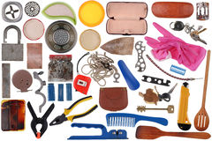 Small old household things set Stock Photo
