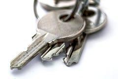 Small old keys isolated on white background Stock Image