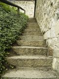 Small old stone stairs Royalty Free Stock Photography