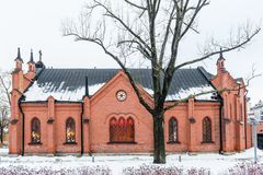 Small old style church in Helsinki Stock Photo