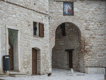 The small old town of Pascelupo, Monte Cucco NP, Appennines, Umb Stock Photos