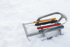 Small old toy sled Royalty Free Stock Images