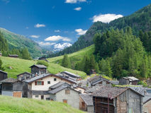 Small old village in Switzerland Stock Photo