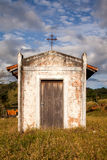 Small old white church in the countryside royalty free stock image