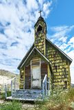 Small old, wooden countryside church along Highway 99, British Columbia, Canada stock photography