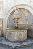 Small Onofrio's Fountain in Dubrovnik Royalty Free Stock Image