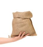 Small open bag from a sacking Royalty Free Stock Image