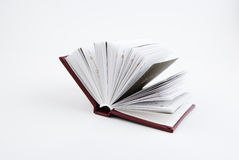 Small open book. On white background Stock Photography