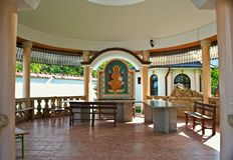 Small open chapel in monastery Privina Glava, Šid, Serbia Royalty Free Stock Photo