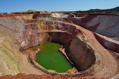 Small Open Pit Mine Abandoned Stock Photos