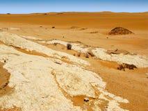 Small orange colored dunes of Namib desert in Namibia near Swakopmund, South Africa Royalty Free Stock Photos