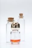 Small orange perfume bottle Royalty Free Stock Photo
