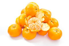 Small oranges. Small orange isolated on white background stock photography