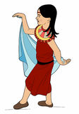 Small oriental dancer. Oriental girl costume, file eps 10 Royalty Free Illustration