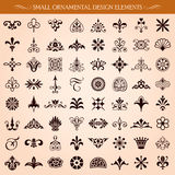 Small Ornamental Design Elements Vector. Set of small ornamental design elements and page decoration vector Royalty Free Stock Photography