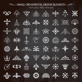 Small Ornamental Design Elements Vector Royalty Free Stock Image
