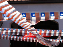 Small ornamental flags. Royalty Free Stock Photos