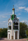 Small orthodox chapel on the island in Ukraine Royalty Free Stock Photo