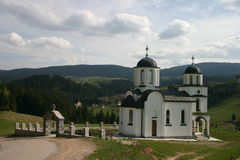 Small orthodox church Stock Photo