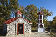 Small orthodox church at Greece Stock Photography