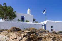 Small Orthodox church in Kythnos island, Cyclades, Greece Stock Image